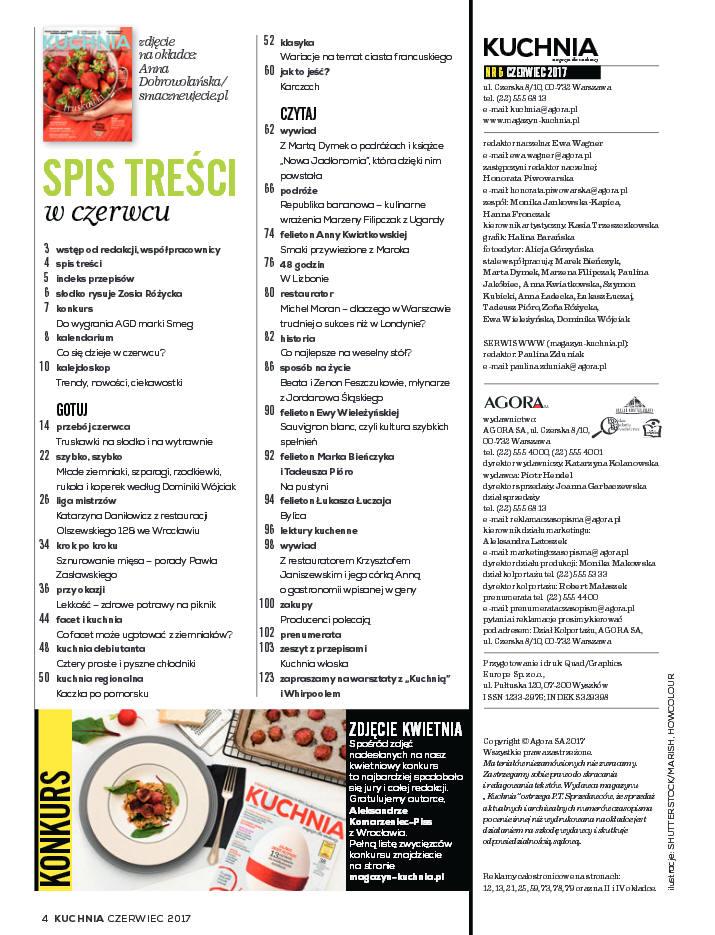Kuchnia 06 2017 Magazyn Dla Smakoszy Szlakamismakowpl