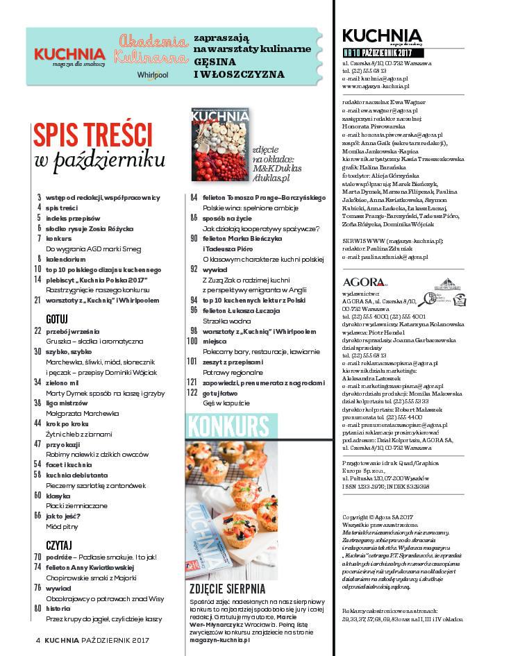 Kuchnia 10 2017 Magazyn Dla Smakoszy Szlakami Smaków